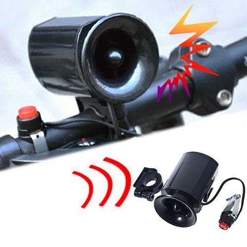 Bicicleta electrónica, bicicleta, campana sonora Ultra, 6 efectos de sonido, resistente al agua, alarma, altavoz, accesorios para bicicleta, batería incluida