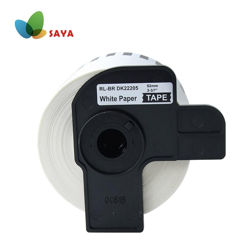 DK-22205-2 рулонная этикетка 62 мм x 30,48 м Непрерывная Совместимость для Brother QL-500/500A/550/560/570/570VM/580N/650TD/710W