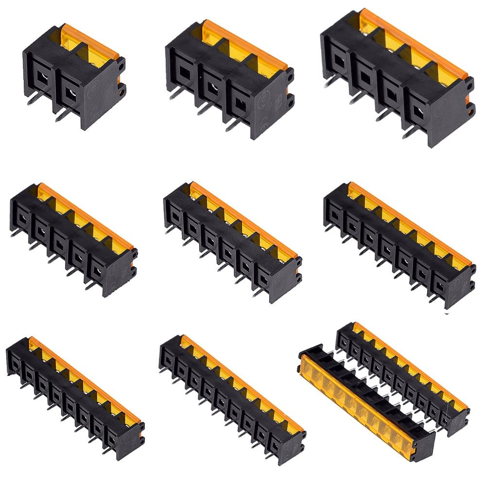 1 sztuk 2 3 4 5 6 7 8 9 10Pin HB-9500 pokrywy zacisków barierowych 9.5MM 300 30A linia prosta wysoki prąd złącza bloki barierowe