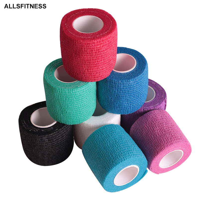 AliExpress - 5M Waterproof Breathable Cotton Kinesiology Tape Sports Elastic Roll Adhesive Muscle Bandage Pain Care Tape Knee Elbow Protector