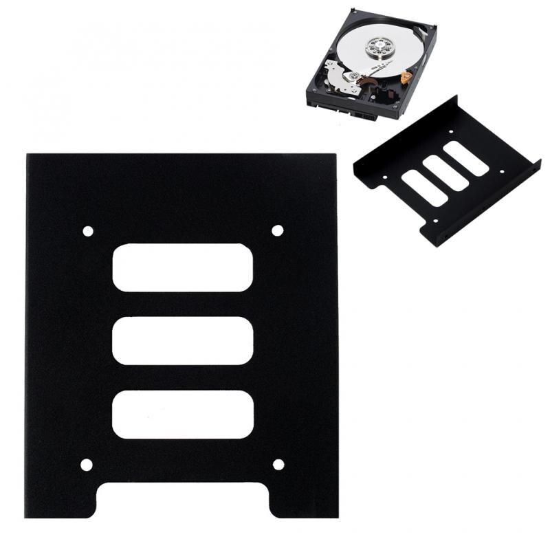 De 2,5 a 3,5 'SSD de Metal duro adaptador de soporte de montaje soporte de disco duro para PC negro se adapta a cualquier