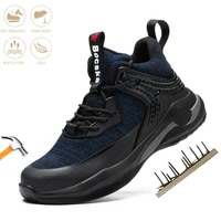 mens fashion safety shoes steel toe cap anti smash puncture proof indestructible work boots lightweight protect comfor