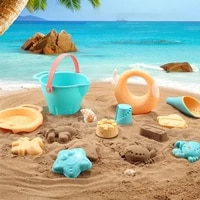 safe silicone soft sand toys children beach toys baby summer digging sand tool with shovel water game play outdoor toy sandbox