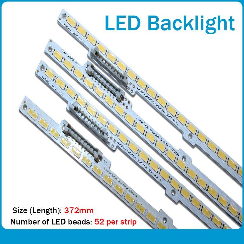 4 pçs/lote TRENÓ 2011SVS60 V2 LEFT52 LEFT52 BN64-01790A #1 BN64-01808A #1 Para Samsung Led Backlight Tira 52LEDS 372 MILÍMETROS