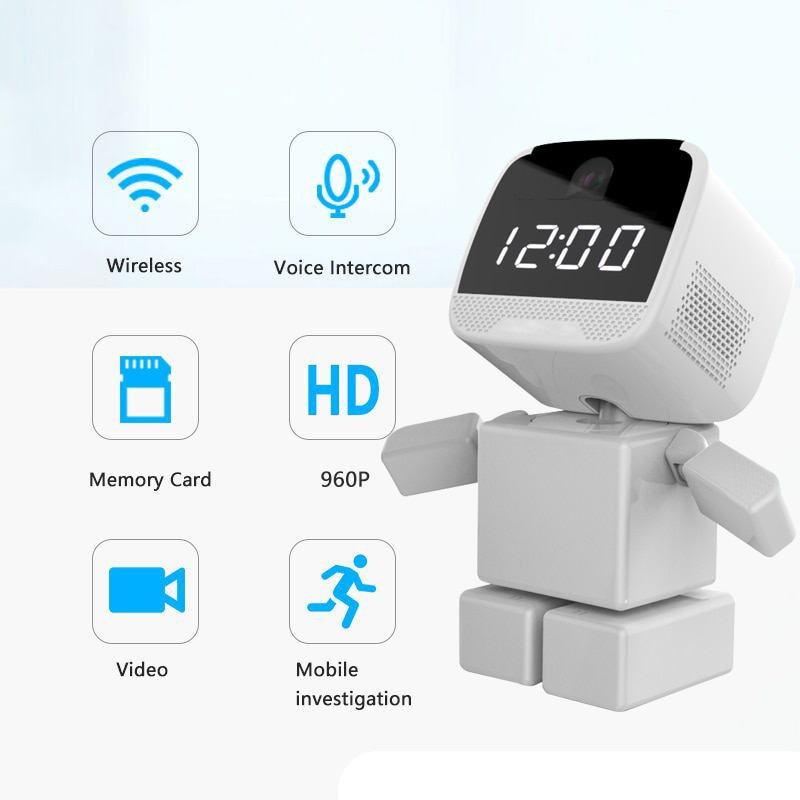 1080P умный робот Wifi IP камера Домашняя безопасность CCTV P2P детский монитор наблюдения ИК Ночное Видение для IOS Android