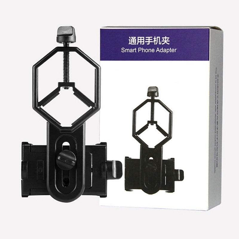 Celestron Black Adjustable Metal/ABS Cellphone Adapter Mount Microscope Spotting Scope Telescope Clip Bracket Phone Stand Holder