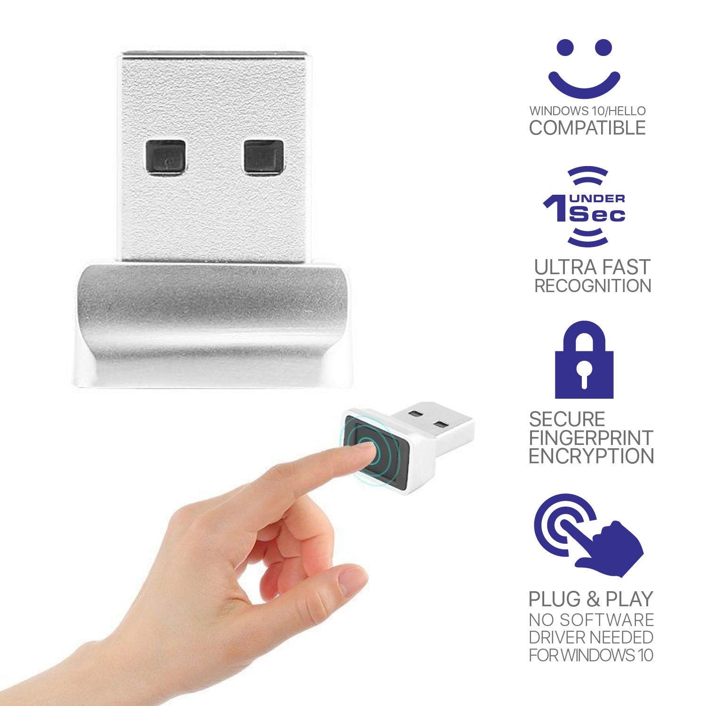 معرف الذكية USB قارئ ويندوز 10 32/64 بت كلمة السر خالية تسجيل الدخول/تسجيل الدخول قفل/فتح لأجهزة الكمبيوتر المحمول قارئ بصمات الايدي بصمة