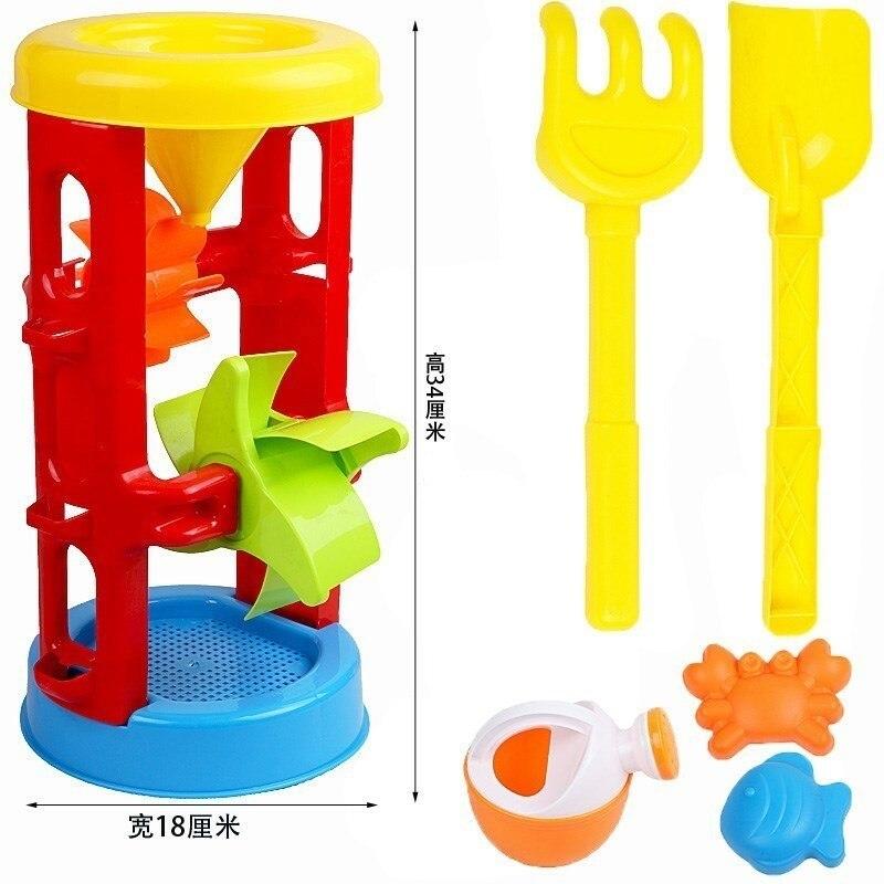 Verano playa Bebé animales De juguete dibujos animados Kinetic arena moldes con forma De castillo cubo y pala Jato De Areia Strandbeest modelo Kit CC50BT