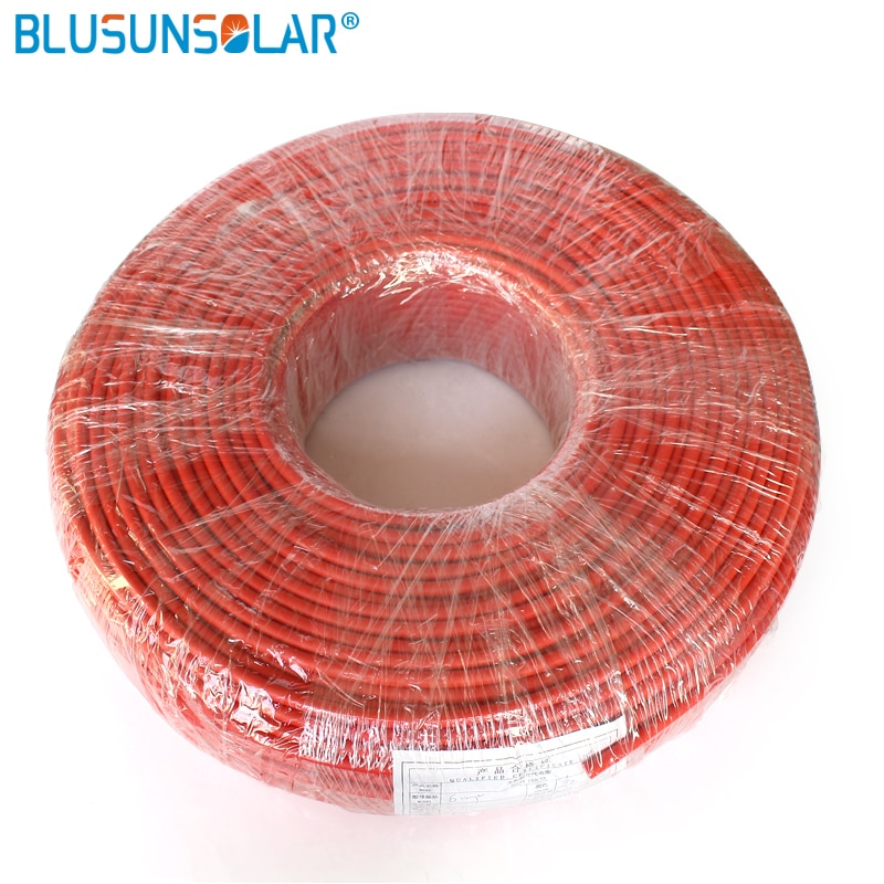 500 متر/وحدة عالية الجودة الأحمر والأسود عالية الجودة الشمسية PV كابل 4.0 مللي متر sq XLPE الكهروضوئية سلك تمديد كابل XC0182