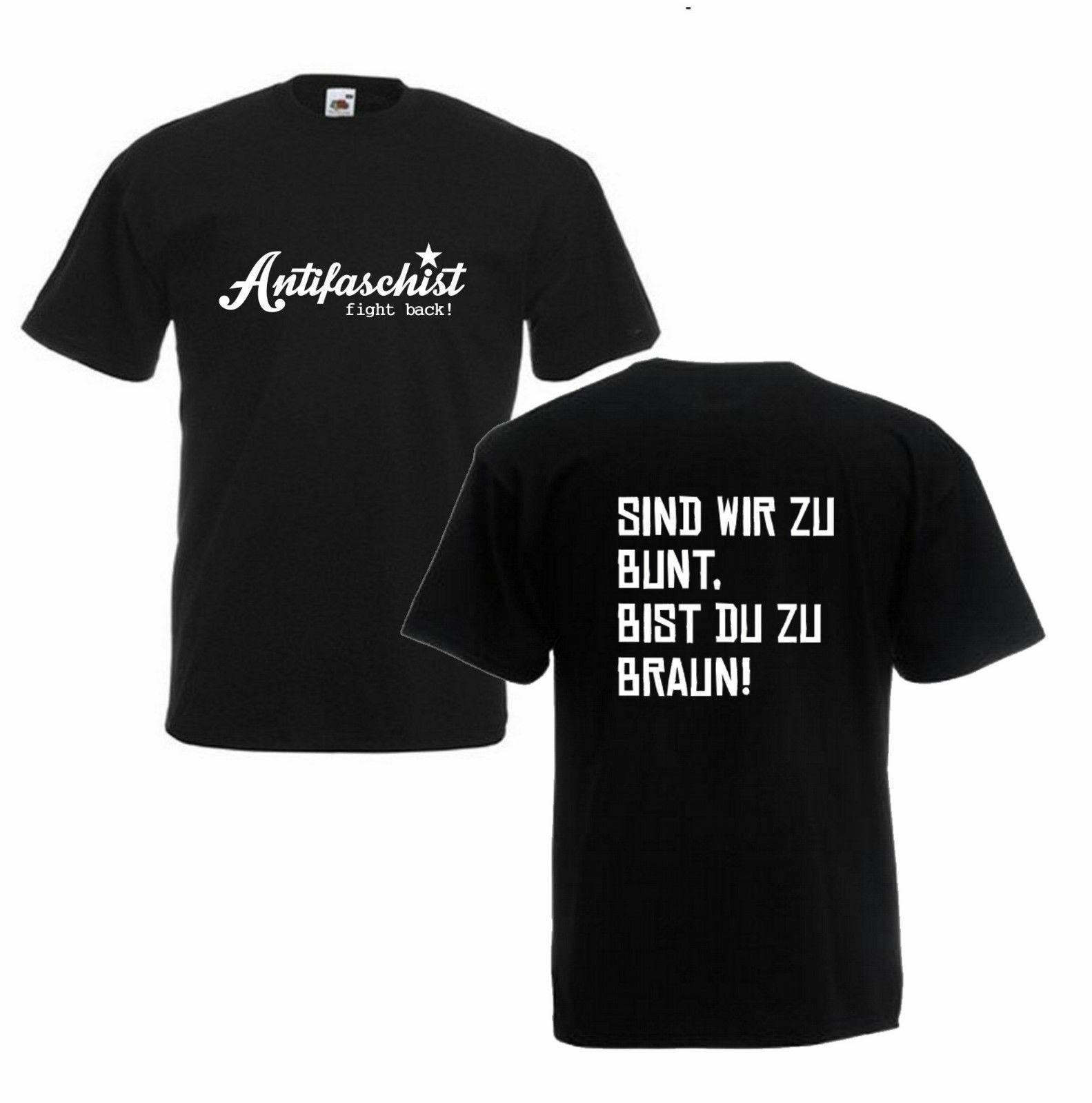 T-Shirt Size S-3Xl Anti-Fascist/Against Nazi/Fck Ltis/Fight Back/Antifa