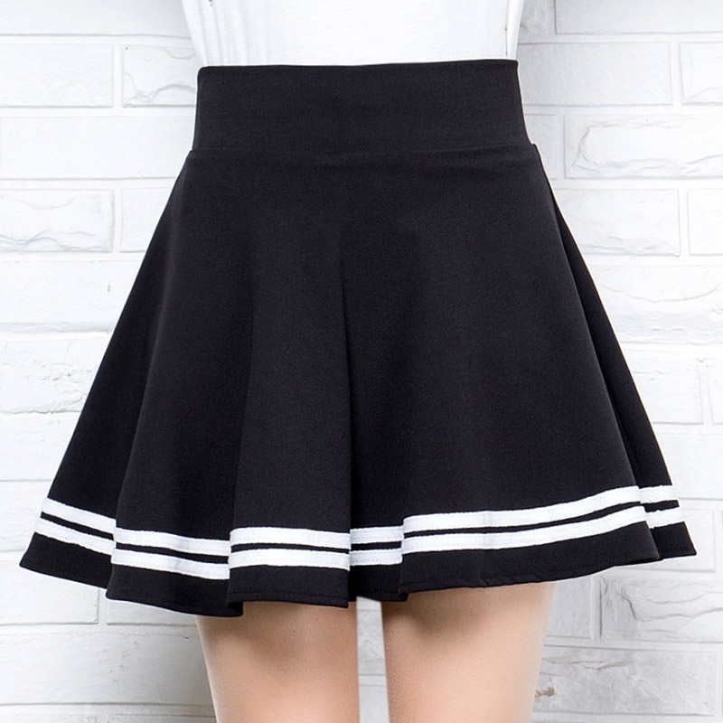 2021 New High Waist Half-length Student Skirt Female College Style Sweet Puffy Pleated Skirt A-line Skirt