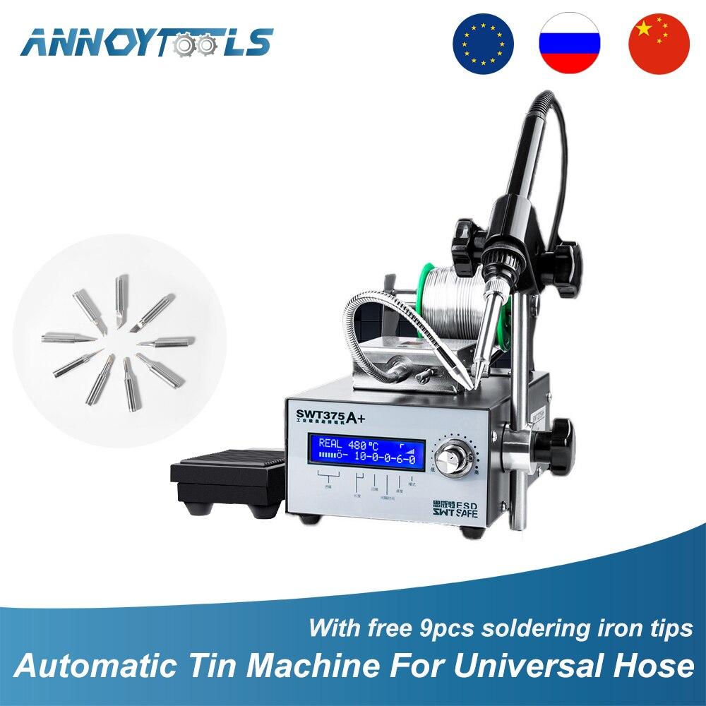 Soldering Machine Industrial Grade Digital Display Automatic Soldering Station Constant Temperature  Solder Iron Welding Tips