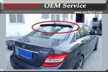 Accessoires Auto de Style automobile aileron de toit en Fiber de verre FRP adapté pour 2008-2013 W204 classe C berline coupé comme Style aileron de toit arrière