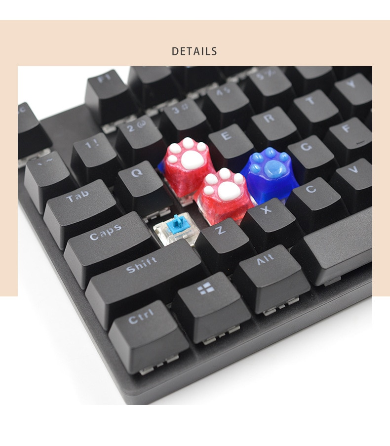 Keycaps Resin Mold Set, DIY Handmade for Mechanical Keyboard Crystal Epoxy Mold 6 Keycap Silicone Mold and Key Puller  - buy with discount