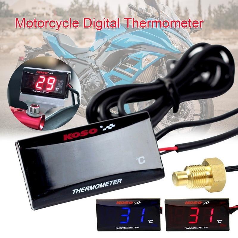 Universal digital da motocicleta medidor de temperatura da água para koso xmax nmax bwm backlight display