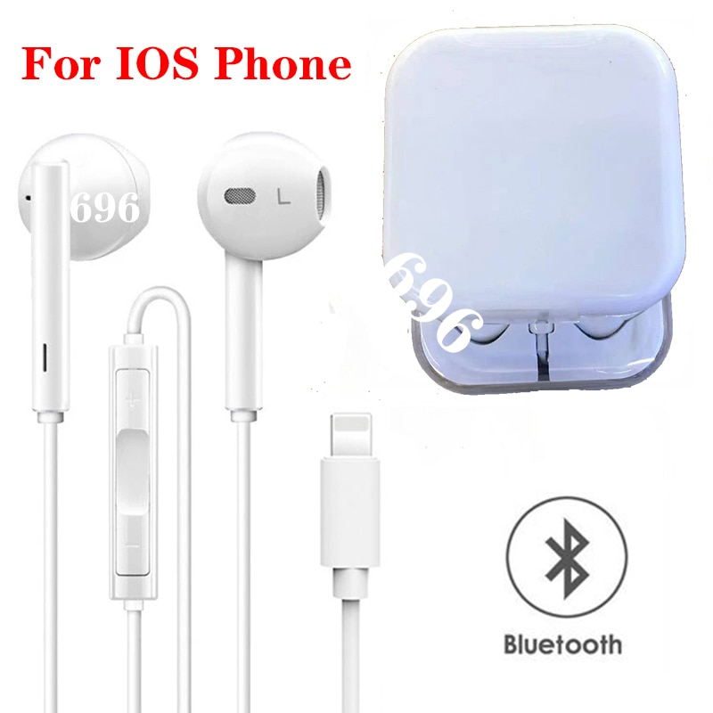 Auriculares Bluetooth con cable para Apple iPhone 11 Pro XR X XS...