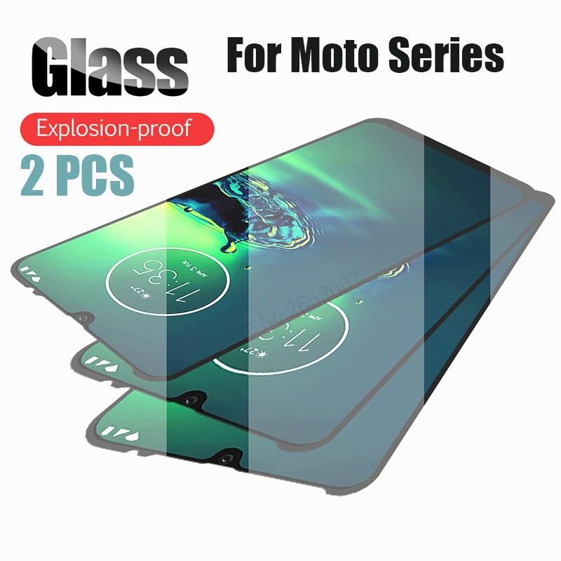 2 PCS מזג זכוכית עבור Moto G8 G7 בתוספת אחד זום E6 E5 בתוספת מאקרו P30 Z3 Z2 לשחק כיסוי מסך מגן זכוכית למוטורולה G8