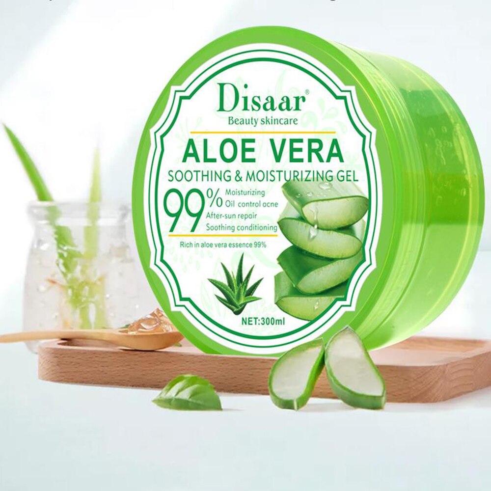 DISAAR New 300ml After Sun Repair Vitamins Collagen Organic Aloe Vera Plant Gel Hyaluronic Acid Removal Acne SkinCare Face Cream