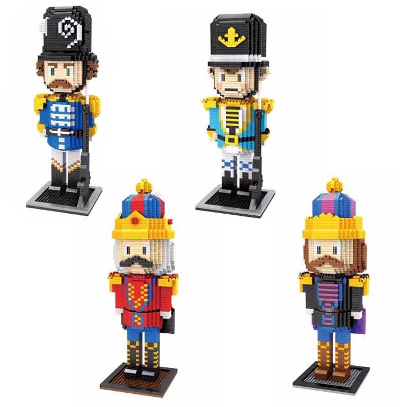 ZMS British soldier series Anime cartoon building blocks Mini Bricks King model compatible educational toys for children gift