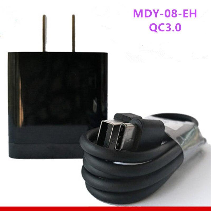 Cargador rápido QC3.0, adaptador de viaje, Cable de carga USB-C/Tipo C para Xiaomi Original MI5 mi4c SE 9 mi mi8 5C 5X 5A Note2 OnePlus 5