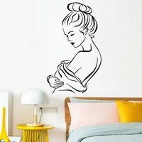 Sparadrap muraux en vinyle impermeables pour femmes  sparadrap de mode pour chambre a coucher  decor de maison  Salon de beaute  decoration de fenetre de salle de bains Y690