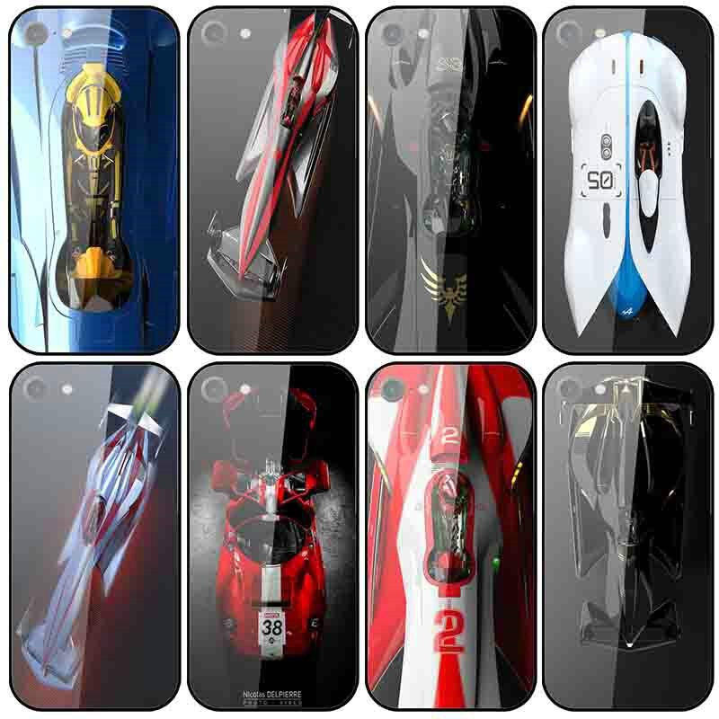 Fundas para teléfono móvil de cristal templado de carreras y coches de carreras, fundas para iPhone 8 7 5 5S SE 2020 6 6S Plus X XR XS 11 Pro Max 10 Shell