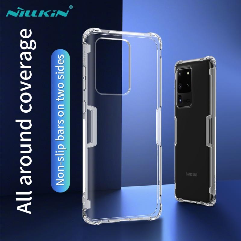 Funda Nillkin transparente de silicona suave TPU de 0,6mm para Samsung Galaxy S20 Ultra S20 S10 S9 Plus S10E Note 10 9 8 A50 A70 A51 A71