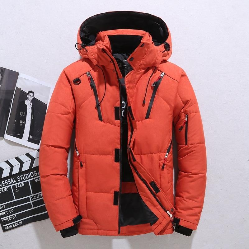 Haute qualité doudoune mâle hiver Parkas hommes blanc canard doudoune à capuche en plein air épais chaud rembourré manteau de neige surdimensionné M-4XL