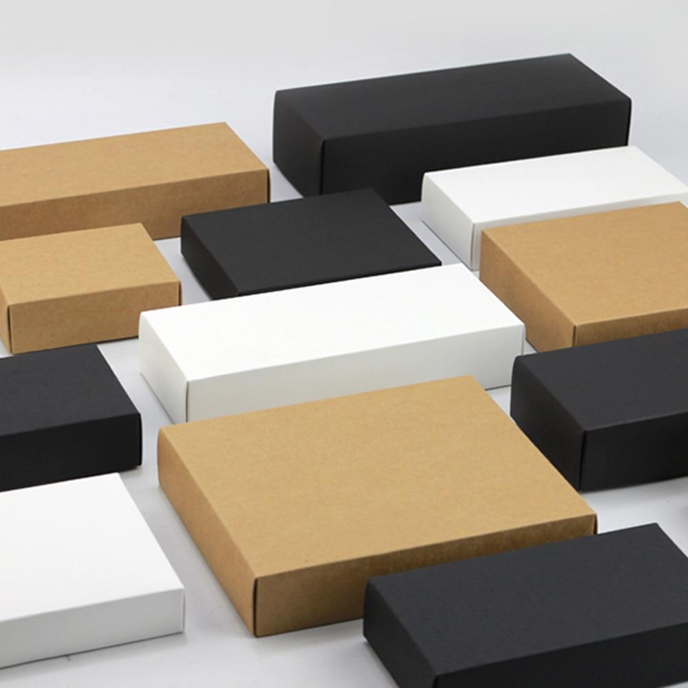Caja de Embalaje de papel marrón Natural, cajitas de cartón, caja de...