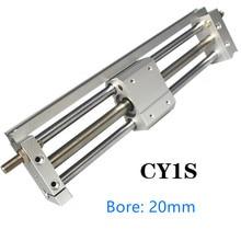 Cylindre sans charnière à couplage magnétique   CY1S/CDY1S CY1S20, 100-500mm cylindre pneumatique à couplage magnétique