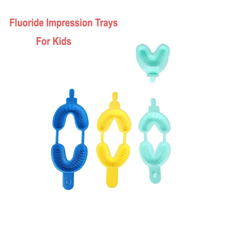 50 Sets Dental Disposable Fluoride Foam Impression Tray Child Impression Trays