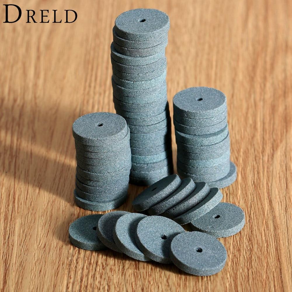 20pcs 20mm mini trapano mola / lucidatura mola lucidatura pad Dremel accessori disco abrasivo per smerigliatrice da banco utensile rotante
