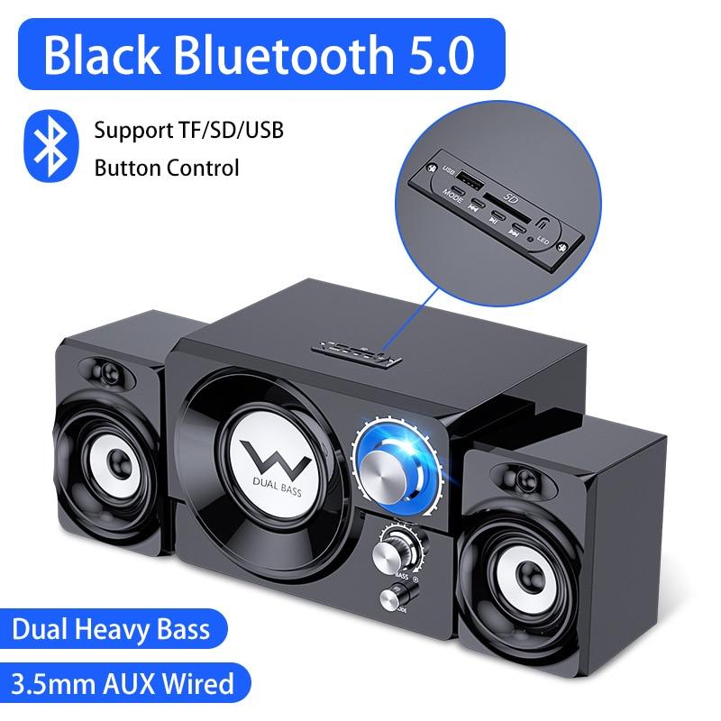 2021 مكبرات صوت الكمبيوتر AUX USB لاسلكي الجمع سمّاعات بلوتوث نظام مسرح منزلي الصوت المحيطي ساوند بار لتلفزيون الكمبيوتر