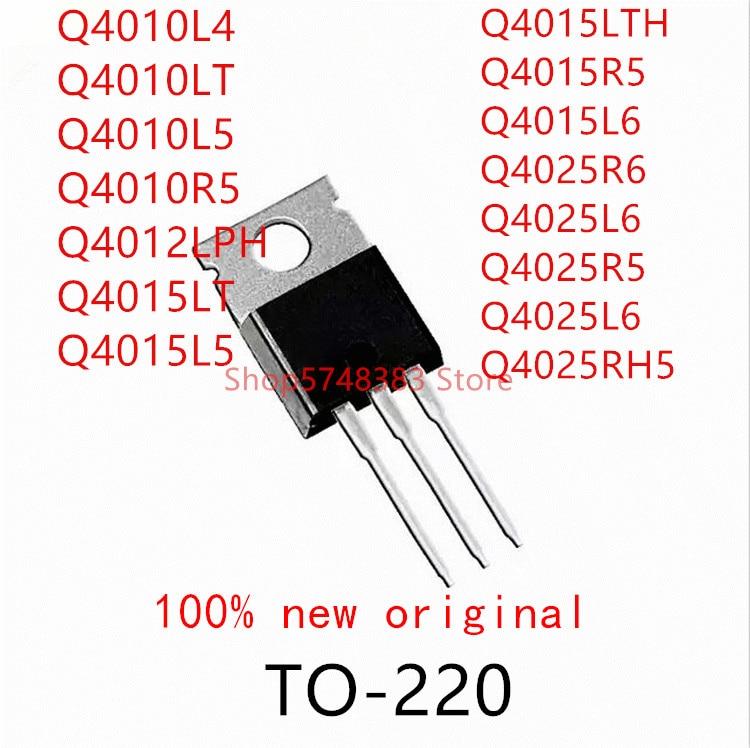 10PCS Q4010L4 Q4010LT Q4010L5 Q4010R5 Q4012LPH Q4015LT Q4015L5 Q4015LTH Q4015R5 Q4015L6 Q4025R6 Q4025L6 Q4025R5 Q4025L6 Q4025RH5
