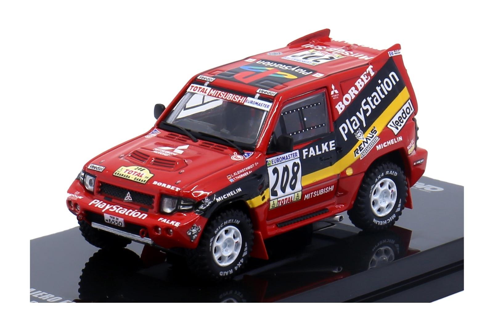 Inno64 164 mitsubishi pajero evolution #208 playstation granada-dakar diecast modelo de carro