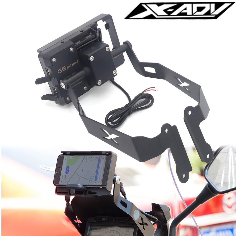 لهوندا X-ADV 750 XADV 750 2017-2019 حامل حامل الهاتف المحمول الهاتف GPS لوحة قوس حامل الهاتف USB