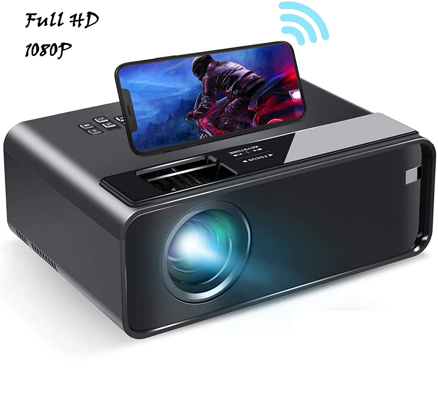 Mini Wifi LED Projector 1080p/720p Support VGA/USB/HDMI 3D Home Video Projector With Remote Control For Android iPhone Xbox/PS4