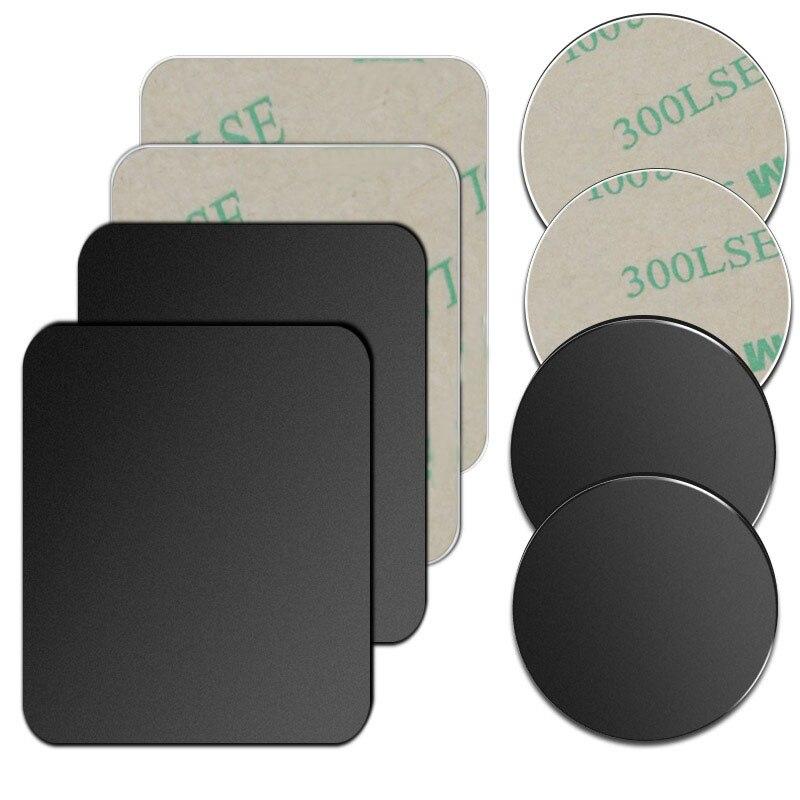 Soporte de teléfono para coche con imán disco de placa de Metal para hoja de hierro pegatina para soporte magnético para teléfono móvil soporte de coche