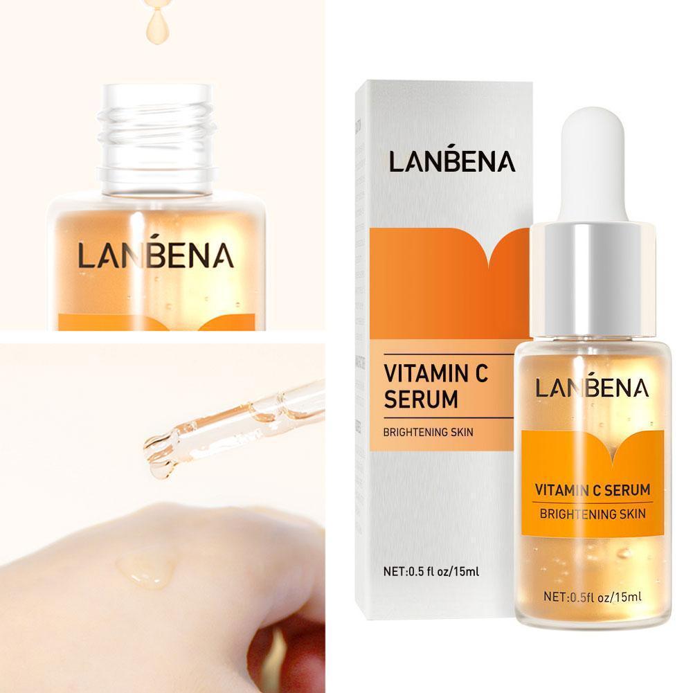 VitaminC Face Serum WhiteningHyaluronic Acid VC Cream Freckle Fade Moisturize Уход За Лицо
