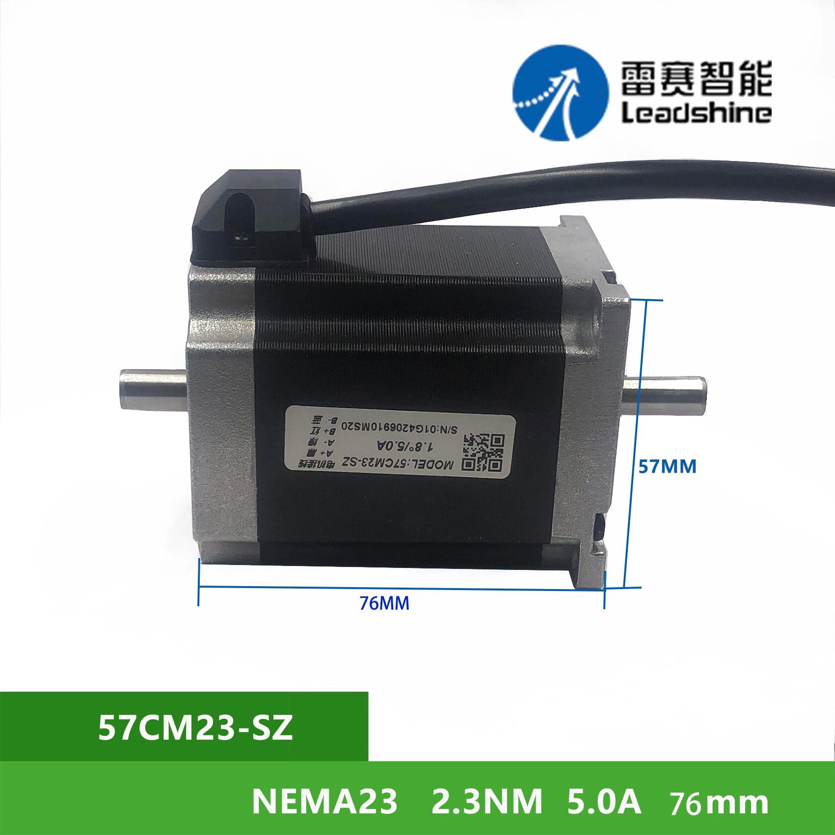 NEMA23 Leadshine 57CM23-SZ 2.3Nm 5A 2 المرحلة السائر موتور رمح القطر 6.35m مزدوجة رمح