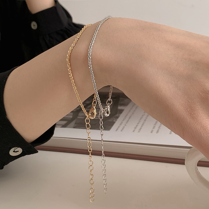 Twisted Chain Niche Design Simple Bracelet Ins Cold Wind Net Red New Bracelet High Sense Accessories