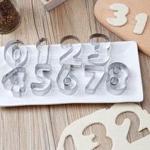 Biscuit emporte-pièces accessoires de cuisson de qualité alimentaire 0-8 numéro forme en acier inoxydable gâteau décoration outils Gadgets de cuisine
