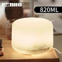 FUNHO 820ML Humidificateur Dair A Ultrasons Diffuseur Dhuile Essentielle 7 Couleurs LED Veilleuse Fabricant De Brume Fraiche Pour La Maison Grande Capacite