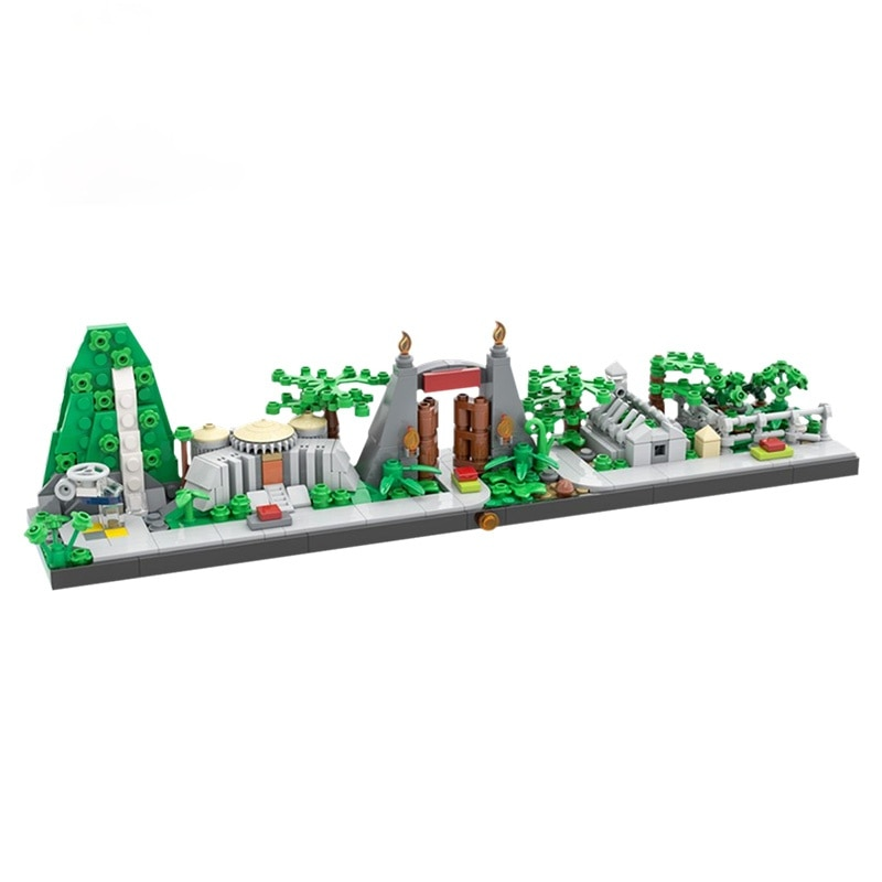 New Jurassic Dinosaur World Park Skyline Tree Forest Animal Building Blocks Compatible MOC DIY Buildmoc Bricks Kids Toys