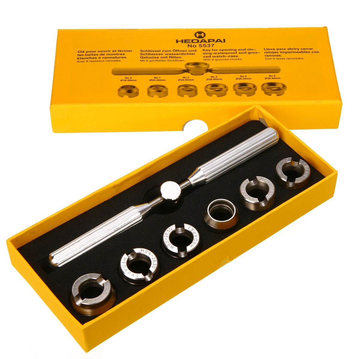 7pcs Professional Watch Cover Remover Wrench Set With Box Metal Back Case Opener Watch Repair Hand T