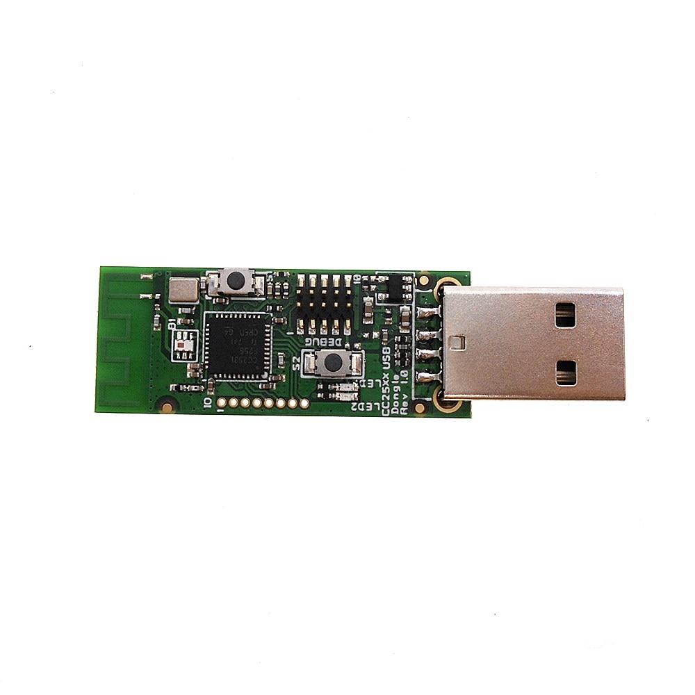 Bluetooth 4.0 BLE Dongle Módulo CC2531 Zigbee Sniffer Captura Placa Wireless USB Programador Downloader Cabo Conector