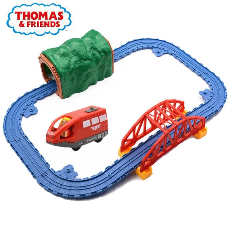 Thomas e amigos trilha acessórios locomotiva elétrica 143 universal crianças bolo de aniversário decorar brinquedo caixa de armazenamento lembrança