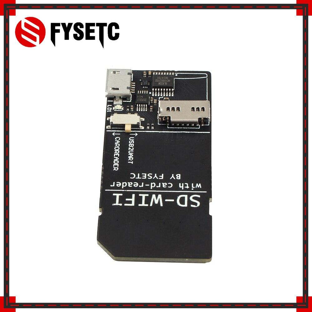 FYSETC 1 Uds SD-WIFI con módulo lector de tarjetas ejecutar ESPwebDev a bordo Módulo de transmisión inalámbrica de chip USB a serie para S6 F6