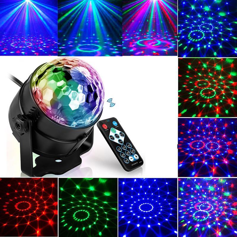 Светодиодный прожектор для дискотеки, сценический светильник со звуковой активацией для дискотеки, лазерный проектор, музыкальсветильник ...
