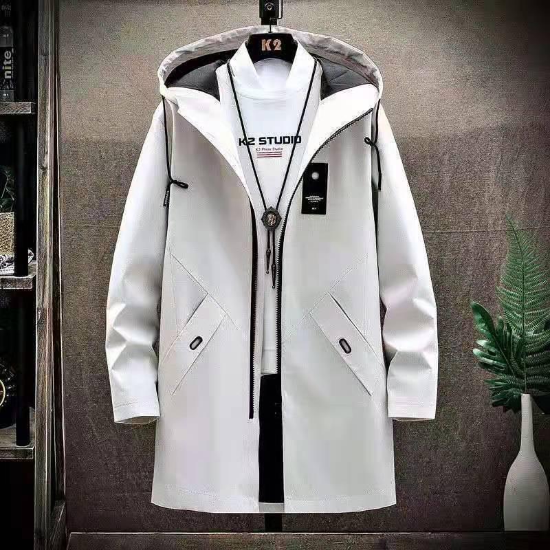 Новая мужская ветровка средней длины корейская модная зимняя куртка плюшевая утепленная повседневная мужская куртка